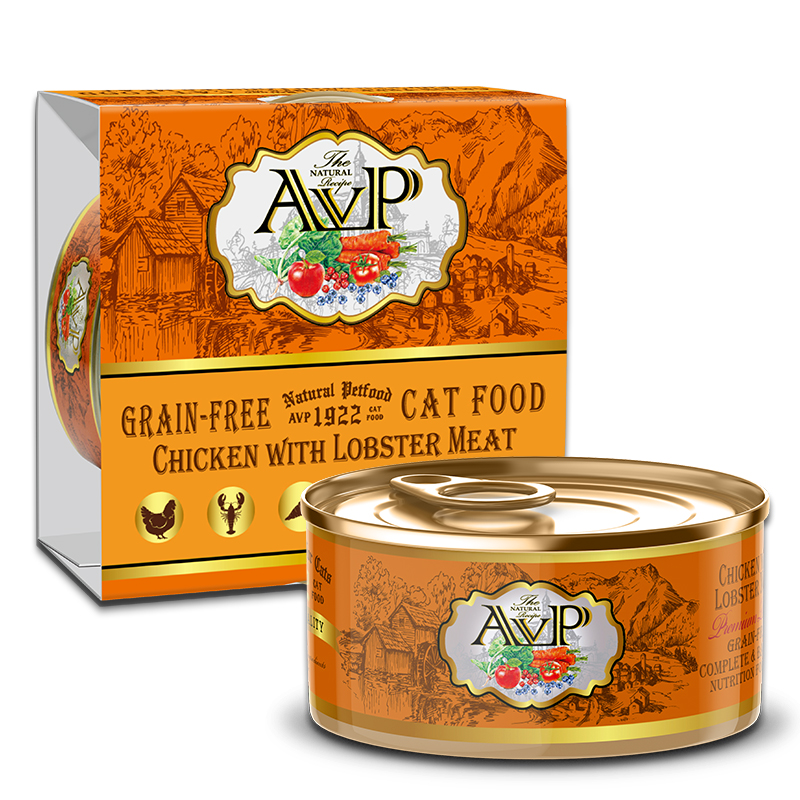 AVP®1922 Chicken With Lobster Meat Complete Grain-Free Wet Cat Food