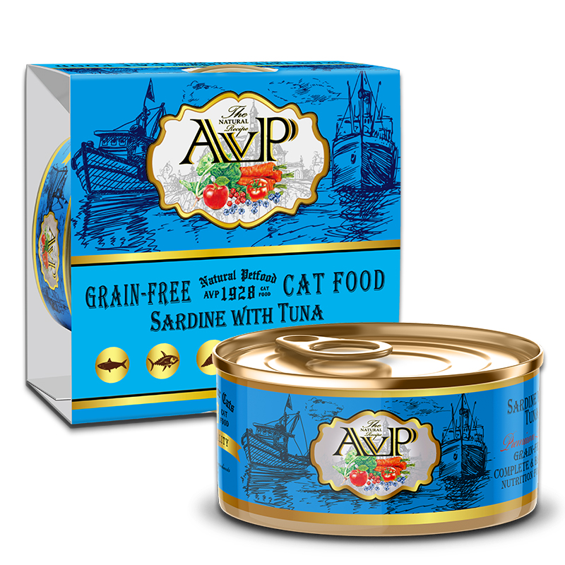 AVP®1928 Sardine with Tuna Complete Grain-Free Wet Cat Food