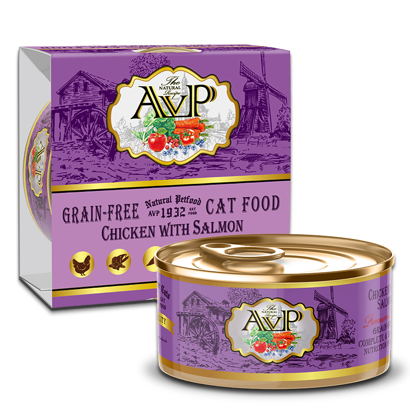 AVP®1932 Chicken with Salmon Complete Grain-Free Wet Cat Food