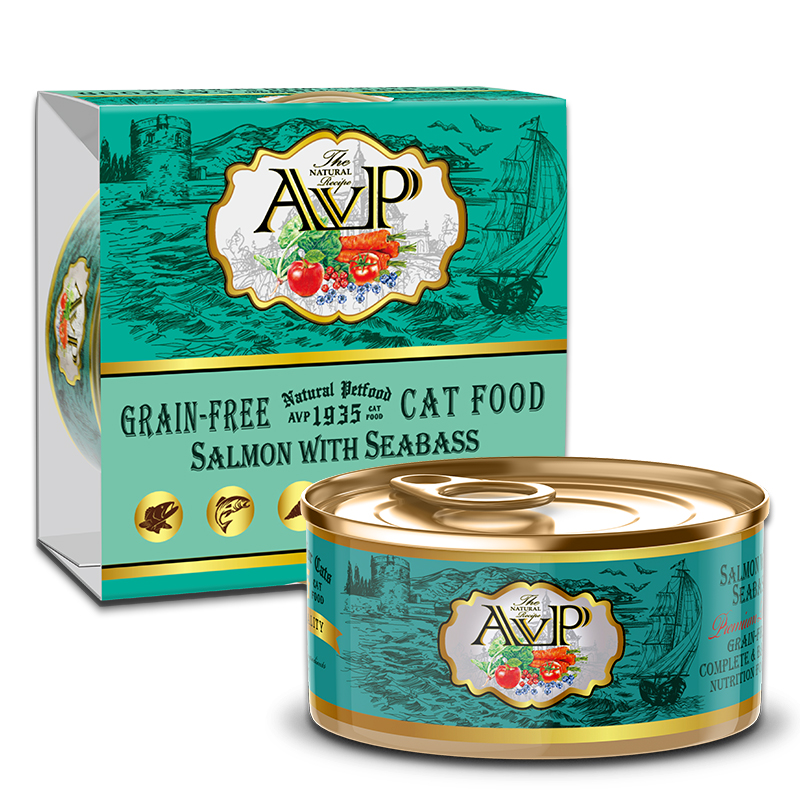 AVP®1935 Salmon with Seabass Complete Grain-Free Wet Cat Food