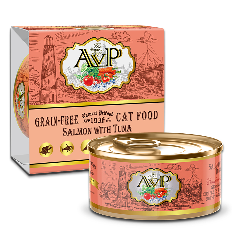AVP®1936 Salmon with Tuna Complete Grain-Free Wet Cat Food