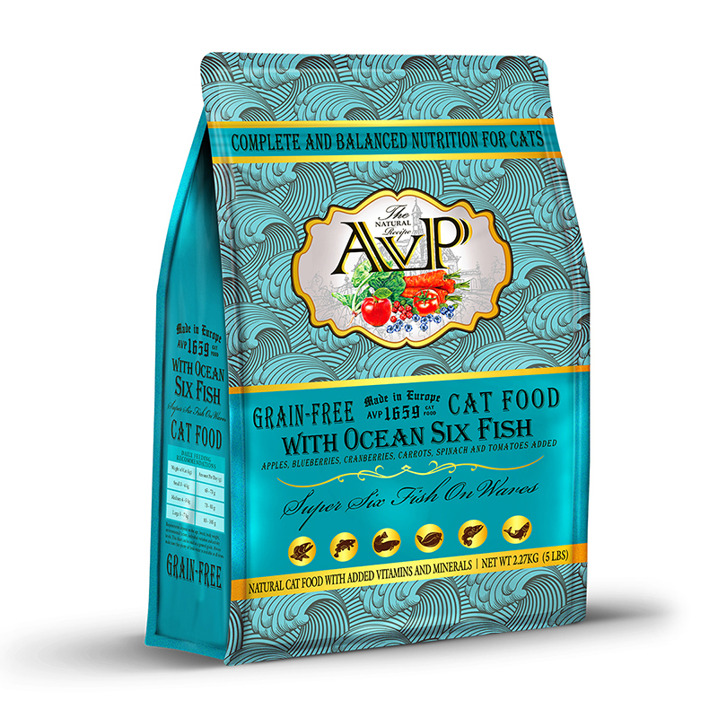AVP®1659 With Ocean Six Fish Complete Grain-Free Natural Recipe for Cats of All Life Stages