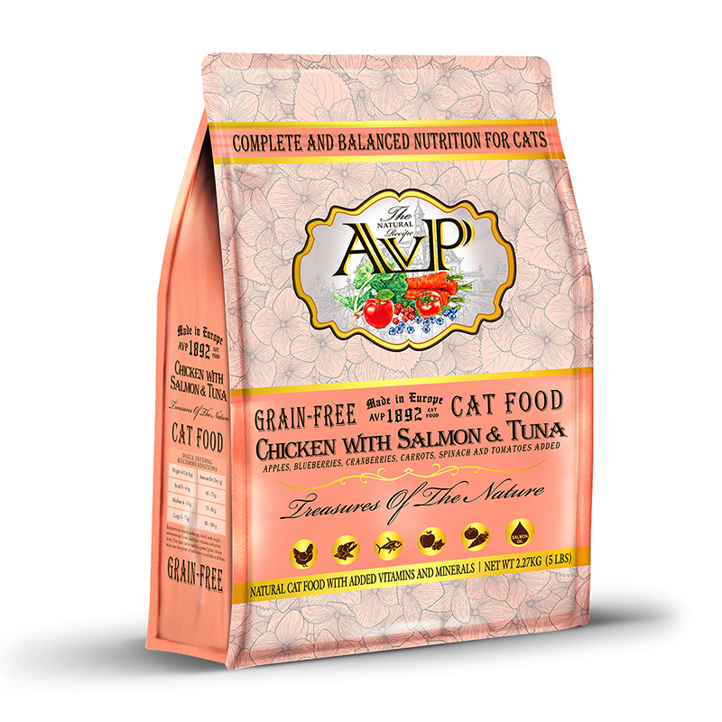 AVP®1892 Chicken with Salmon & Tuna Complete Grain-Free Recipe for Cats of All Life Stages