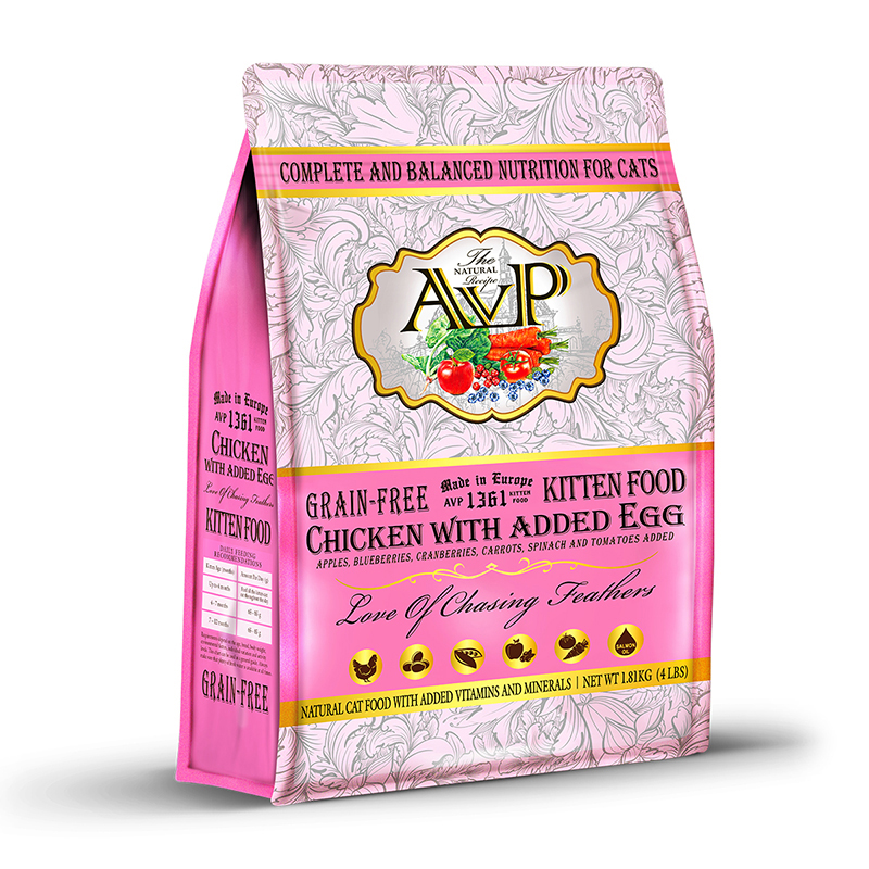AVP®1361 Chicken with Added Egg Complete Grain-Free Natural Recipe for Kittens